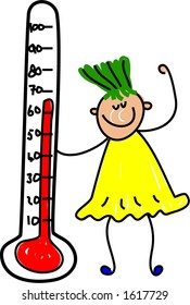 thermometer kid