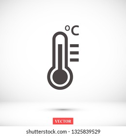 thermometer vector icon 10 eps