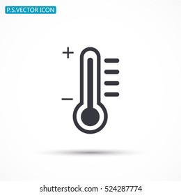 thermometer. Vector icon 10 EPS