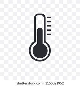 Thermometer vector icon isolated on transparent background, Thermometer logo concept