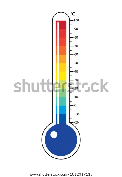 Thermometers icon with different zones. Vector image isolated on white background