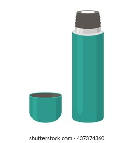 thermos icon in a flat style isolated on white background.