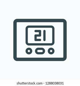Thermostat icon, climate control system, warm floor thermostat vector icon