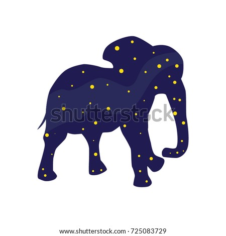 46d683647 These night elephant can be used in the design of books and postcards