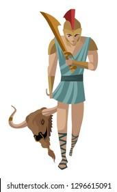 theseus with minotaur head