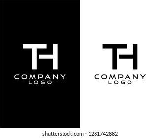 th/ht initials company logo vector
