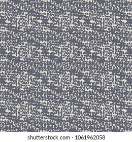 Thick blue carpet with a geometrically blurred pattern formed by the intersections of some stripes. Rough fabric detail. Vector illustration.