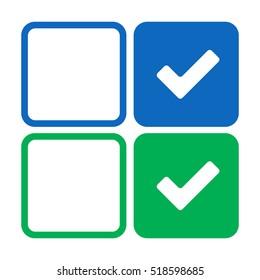 Thick check mark icon set