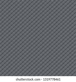 Thick cloth with parallel oblique stripes, colored in blue gray. Twill fabric texture. Vector illustration.