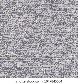 Thick fabric woven in blue and gray. Rough flecked textured background. Vector illustration.