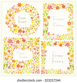 Thick flower frames