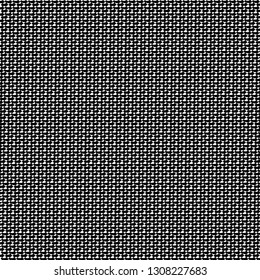 Thick wool fabric. Flecked textile pattern. Tweed texture. Monochrome. Vector illustration.