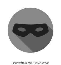 Thief eye mask flat icon