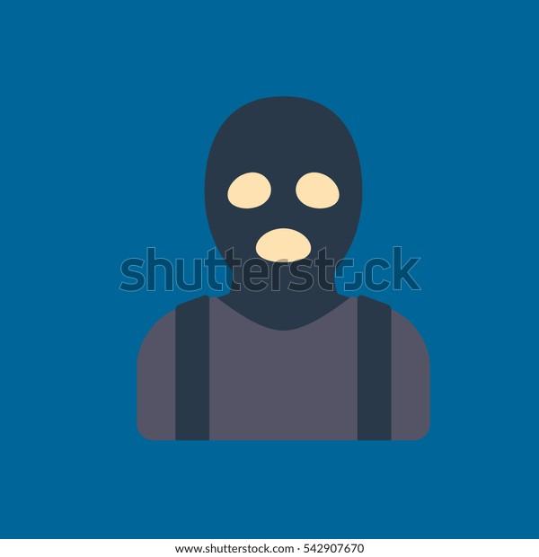 thief icon flat disign
