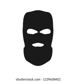 Thief mask. Simple vector bandit head.