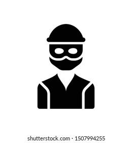 Thief Robber Criminal Vector Icon