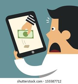 Thief Through the Internet, Business concept