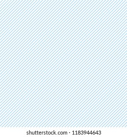 thin blue diagonal stripes on white vector background. Grid template of straight parallel lines.