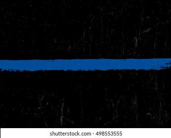 The Thin Blue Line. Police symbol.