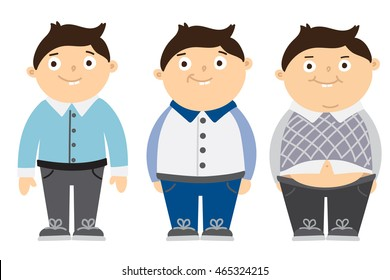 thin fat kid children obesity funny stock vector (royalty free) 465324215  shutterstock