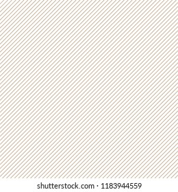 thin gold diagonal stripes on white vector background. Grid template of straight parallel lines.