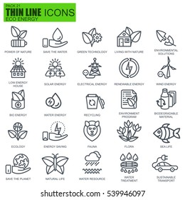 Thin line environment, renewable energy, sustainable technology, nature icons set for website and mobile site apps. Pixel Perfect. Editable Stroke. Simple linear pictogram pack. Vector illustration.