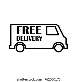 71601998a68dbc Fast Free Shipping Delivery Truck Flat Stock Vector (Royalty Free ...