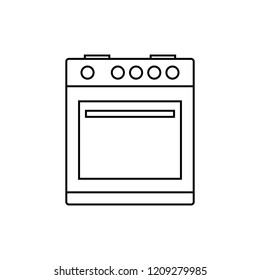 thin line gas stove icon. concept of combined heater, dinner cooking, bake, indoor preparation, fully equipped. flat style trend modern logo graphic design on white background