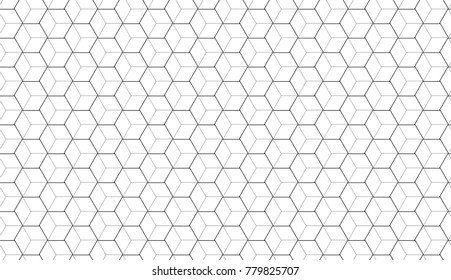 Thin line geometric seamless pattern. Abstract vector background