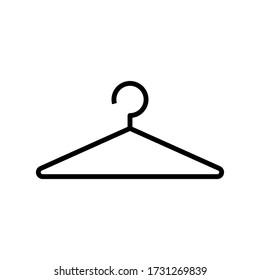 thin line hanger icon vector