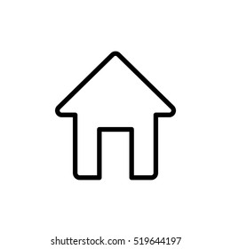 thin line home, house icon on white background
