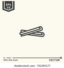 Thin line icon - cinnamon. EPS 10 Isolated object