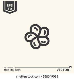 Thin line icon - franzhapani flower. EPS 10. Isolated object