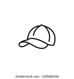 Thin line icon of Hat. Editable vector stroke 64x64 Pixel.