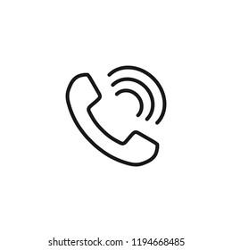 Thin line icon of Phone. Editable vector stroke 64x64 Pixel.
