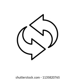 Thin line icon of refresh, reload, buffering. Editable vector stroke 64x64 Pixel.