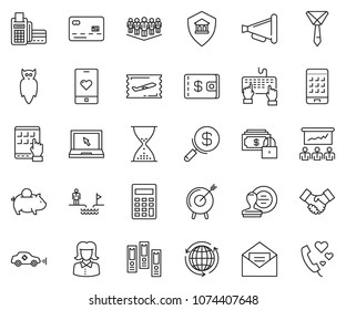 Tablet computer card reader images stock photos vectors thin line icon set business woman vector tie piggybank sand clock reheart Images