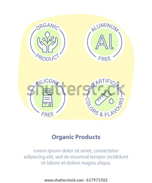 Thin Line Icon Set Concept Healthy Stock Vector (Royalty Free) 617971502