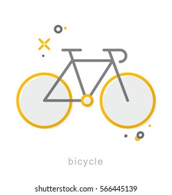Thin line icons, Linear symbols, Bicycle