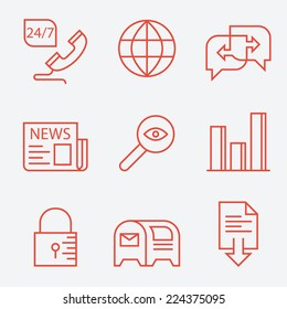 Thin line icons for web sites - modern flat design