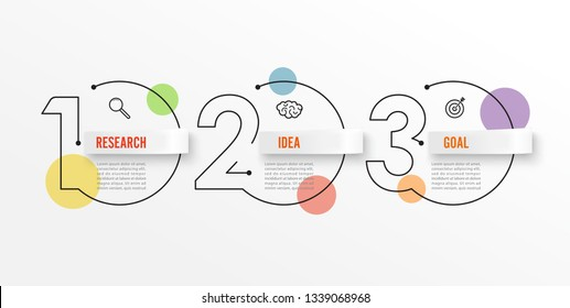 Thin line infographics design template with icons and 3 options or steps. Can be used for process diagram, presentations, workflow layout, banner, flow chart, info graph.