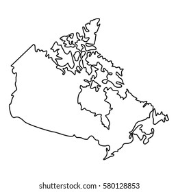 Traceable Map Of Canada Canada Outline HD Stock Images | Shutterstock