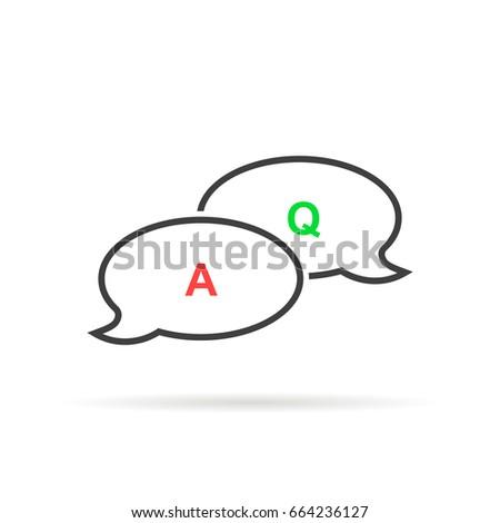 Thin Line Question Answer Bubble Like Stock Vektorgrafik Lizenzfrei
