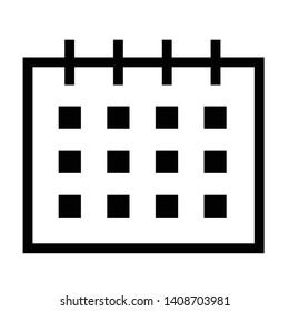 thin line sharp vector icon / calendar, schedule