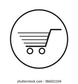 Thin Line Shopping Cart Icon Illustration design
