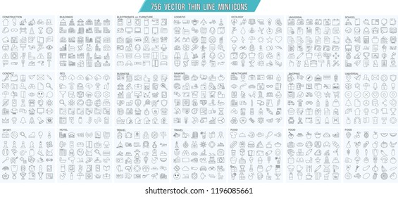 Thin line simple outline icons, 25x25px grid. Pixel Perfect. Editable stroke.