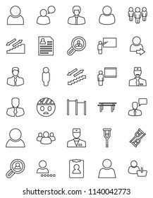 set 25 businessman outline icons such stock vector royalty free Bar Manager Resume Skills thin line vector icon set blackboard vector manager man personal information