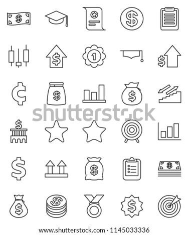 Thin Line Vector Icon Set Graduate Stock Vector Royalty Free