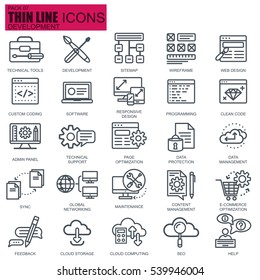 Thin line web design and development icons set for website and mobile site and apps. Pixel Perfect. Editable Stroke. Simple linear pictogram pack. Vector illustration.