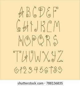 Thin minimal vector font. Slim geometric alphabet letters. Modern design typography. English uppercase serif symbols set. Linear latin contemporary script. Mono line clean type.